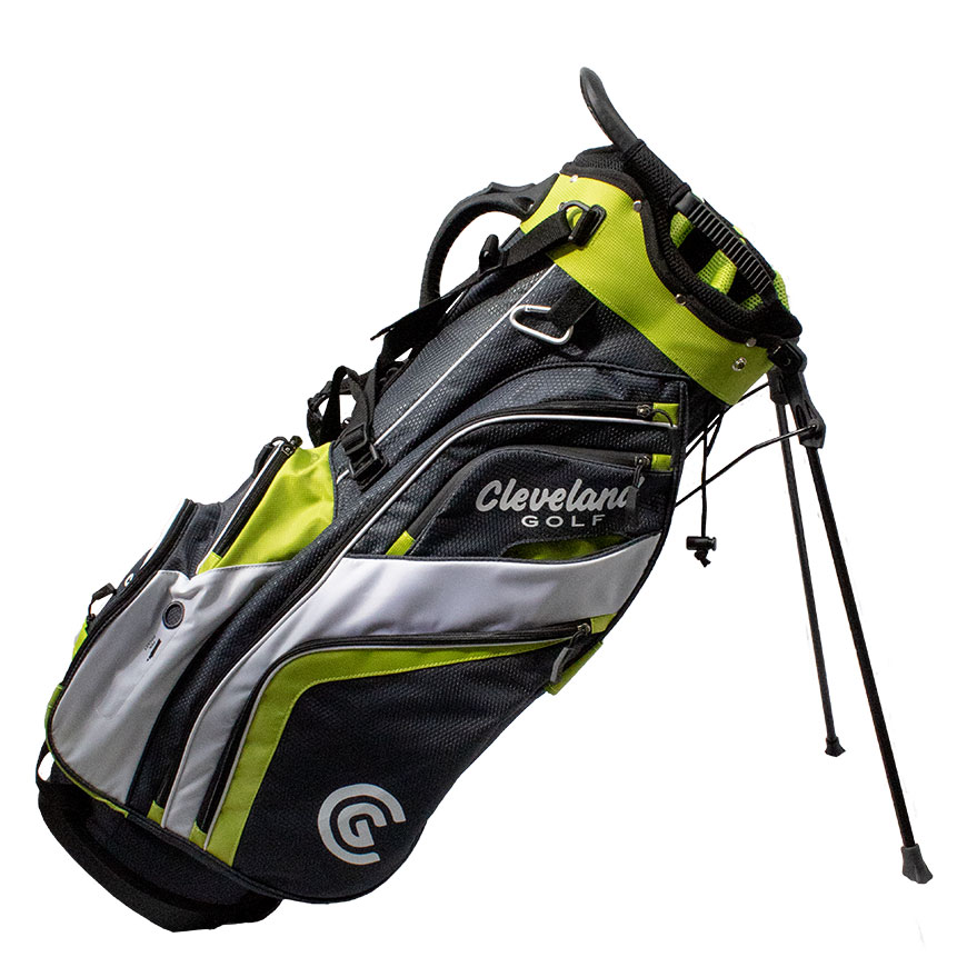 CLEVELAND SATURDAY STAND BAG,Charcoal/Lime/White