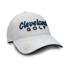 CLEVELAND GOLF BALL MARKER CAP,White