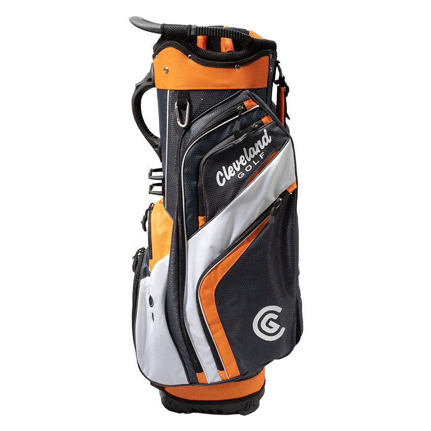 CLEVELAND FRIDAY CART BAG,Charcoal/Burnt Orange/White