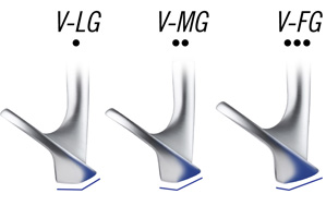 V-SHAPED SOLE grinds